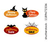 halloween labels sales  | Shutterstock .eps vector #1189672336