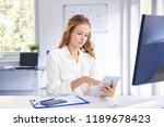 shot of young businesswoman... | Shutterstock . vector #1189678423