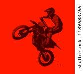 dirt bike motocross jumping red ... | Shutterstock .eps vector #1189683766