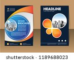brochure template layout  cover ... | Shutterstock .eps vector #1189688023