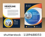 brochure template layout  cover ...   Shutterstock .eps vector #1189688053
