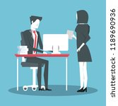 business coworkers avatar | Shutterstock .eps vector #1189690936