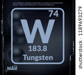 tungsten symbol.chemical... | Shutterstock .eps vector #1189693279