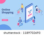 online shopping isometric... | Shutterstock .eps vector #1189702693