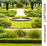 Water Feature In Formal Gardens