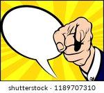 hand pointing the finger. pop... | Shutterstock .eps vector #1189707310