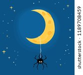 halloween theme with a cute... | Shutterstock .eps vector #1189708459