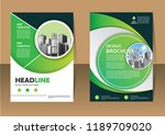 brochure template layout  cover ... | Shutterstock .eps vector #1189709020