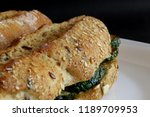 vegetable sandwich with grilled ... | Shutterstock . vector #1189709953