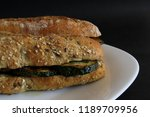 vegetable sandwich with grilled ... | Shutterstock . vector #1189709956