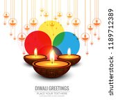 beautiful greeting card for... | Shutterstock .eps vector #1189712389