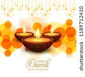 happy diwali diya oil lamp... | Shutterstock .eps vector #1189712410