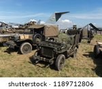 Small photo of Nato Days, Ostrava, Czech Republic / Czechia - Jeep Willys MB, historical military vehicle on the exhibition. Old vintage and retro military cars