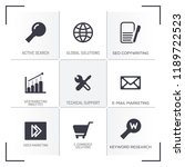 seo icon concept | Shutterstock .eps vector #1189722523