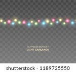 vector seamless horizontal... | Shutterstock .eps vector #1189725550