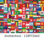 background made of world flag... | Shutterstock .eps vector #118972663