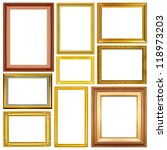 the antique gold frame on the... | Shutterstock . vector #118973203