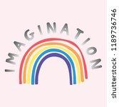 cute rainbow vector... | Shutterstock .eps vector #1189736746