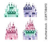 set of children's fairytale... | Shutterstock .eps vector #1189738693