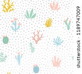 floral seamless pattern. vector ... | Shutterstock .eps vector #1189747009