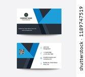 clean modern flat minimal blue... | Shutterstock .eps vector #1189747519