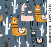 seamless pattern with cute... | Shutterstock .eps vector #1189749610