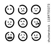 hand drawn emojis faces. doodle ...   Shutterstock .eps vector #1189755373