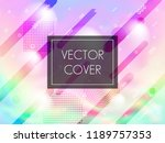 holographic texture cover... | Shutterstock .eps vector #1189757353