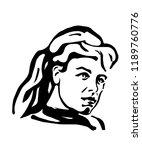 femme fatale a girl from czech... | Shutterstock . vector #1189760776