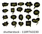 vector bubbles speech doodle... | Shutterstock .eps vector #1189763230