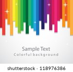 colorful background | Shutterstock .eps vector #118976386