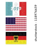 original set of calendars with... | Shutterstock .eps vector #118976659