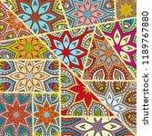 vector patchwork quilt pattern. ... | Shutterstock .eps vector #1189767880