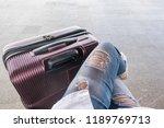 top view selfie shot from girl...   Shutterstock . vector #1189769713