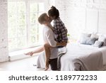 young happy couple in love... | Shutterstock . vector #1189772233