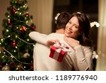 winter holidays and people... | Shutterstock . vector #1189776940
