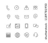 contact us thin line icons | Shutterstock .eps vector #1189781950