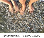 the legs of a man and a woman...   Shutterstock . vector #1189783699