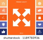 extend  resize icon. cross... | Shutterstock .eps vector #1189783936