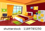 bedroom illustration of... | Shutterstock . vector #1189785250