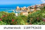 sicilian port of castellammare... | Shutterstock . vector #1189792633