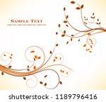 autumn floral background  | Shutterstock .eps vector #1189796416