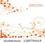autumn floral background  | Shutterstock .eps vector #1189796419