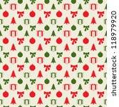retro christmas pattern in... | Shutterstock .eps vector #118979920