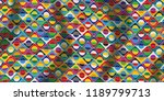 motley pattern  colorful... | Shutterstock .eps vector #1189799713
