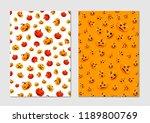 halloween pumpkin pattern.... | Shutterstock .eps vector #1189800769