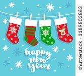 christmas socks vector...   Shutterstock .eps vector #1189802863