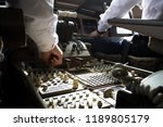 both pilots working on the... | Shutterstock . vector #1189805179