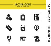 work icons set with people...