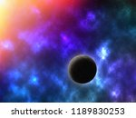 abstract space background with... | Shutterstock . vector #1189830253
